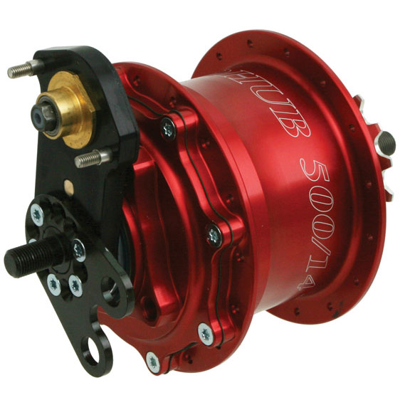 Rohloff Disc-Speedhub 500/14 TS/DB, B-O 32h red: Rohloff