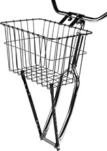 Wald 198GB Black Front Basket with Adjustable Leg: WALD