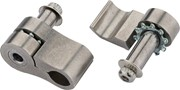 Jagwire cable grip guide, adjustable for all, Stainless, PAIR: Jagwire