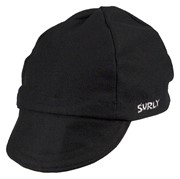 Surly Wool Cycling Cap, S/M, Black, Worsted Wool: Surly
