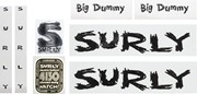 Surly Big Dummy Frame Decal Set - All Black: Surly