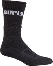 Surly Tall Logo Wool Sox: Black; MD: Surly