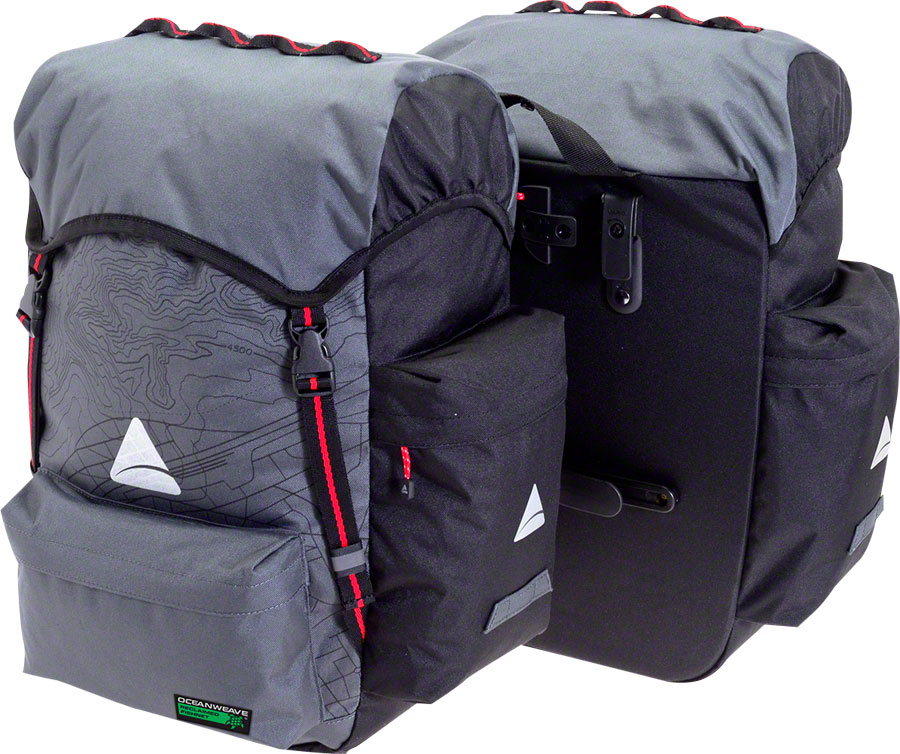 Axiom Seymour Oceanweave P55+ Panniers: Gray/Black