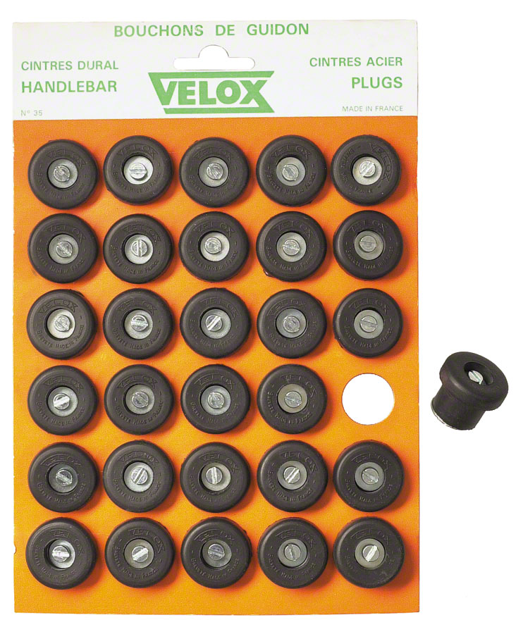 Velox Bar Plugs/Caps, Card of 30