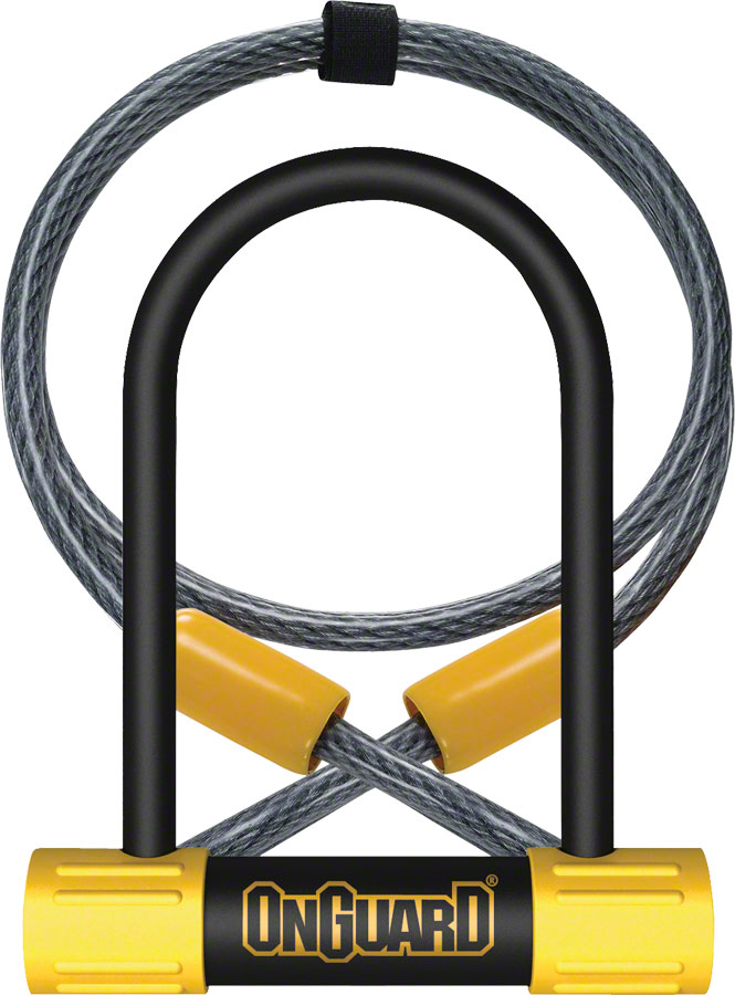 OnGuard Bulldog Mini DT U-Lock with Cable: 3.5 x 5.5 in.