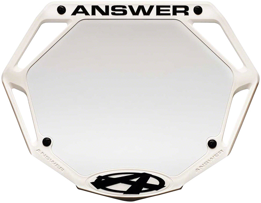Answer BMX 3D Pro Number Plate - White