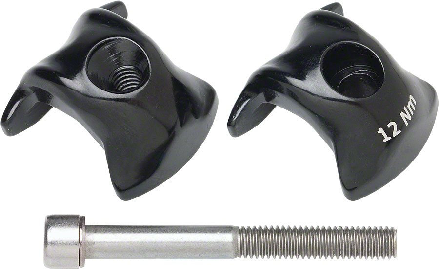 Ritchey Carbon 1-bolt Seatpost Clamp kit 7x9.6mm Rails Black