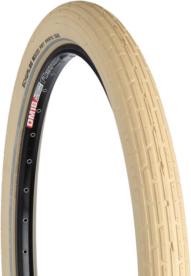 "Tire Rim Guard >> Schwalbe Fat Frank Tire: 26 x 2.35"", Wire Bead, Active Line, Basic Compound, K-Guard, Creme ..."