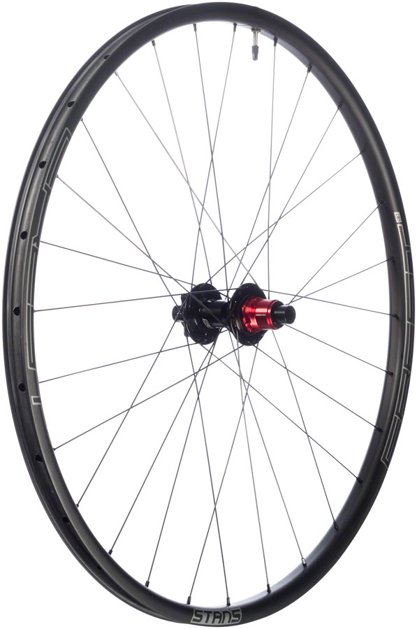 "Stan's No Tubes Crest CB7 Rear Wheel: 29"" Carbon, 12 x 148mm Boost, Center Lock, SRAM XD, Black"
