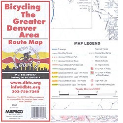 The Greater Denver Area Bicycling Route Map